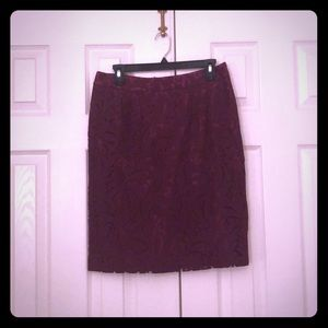 Magenta lace skirt